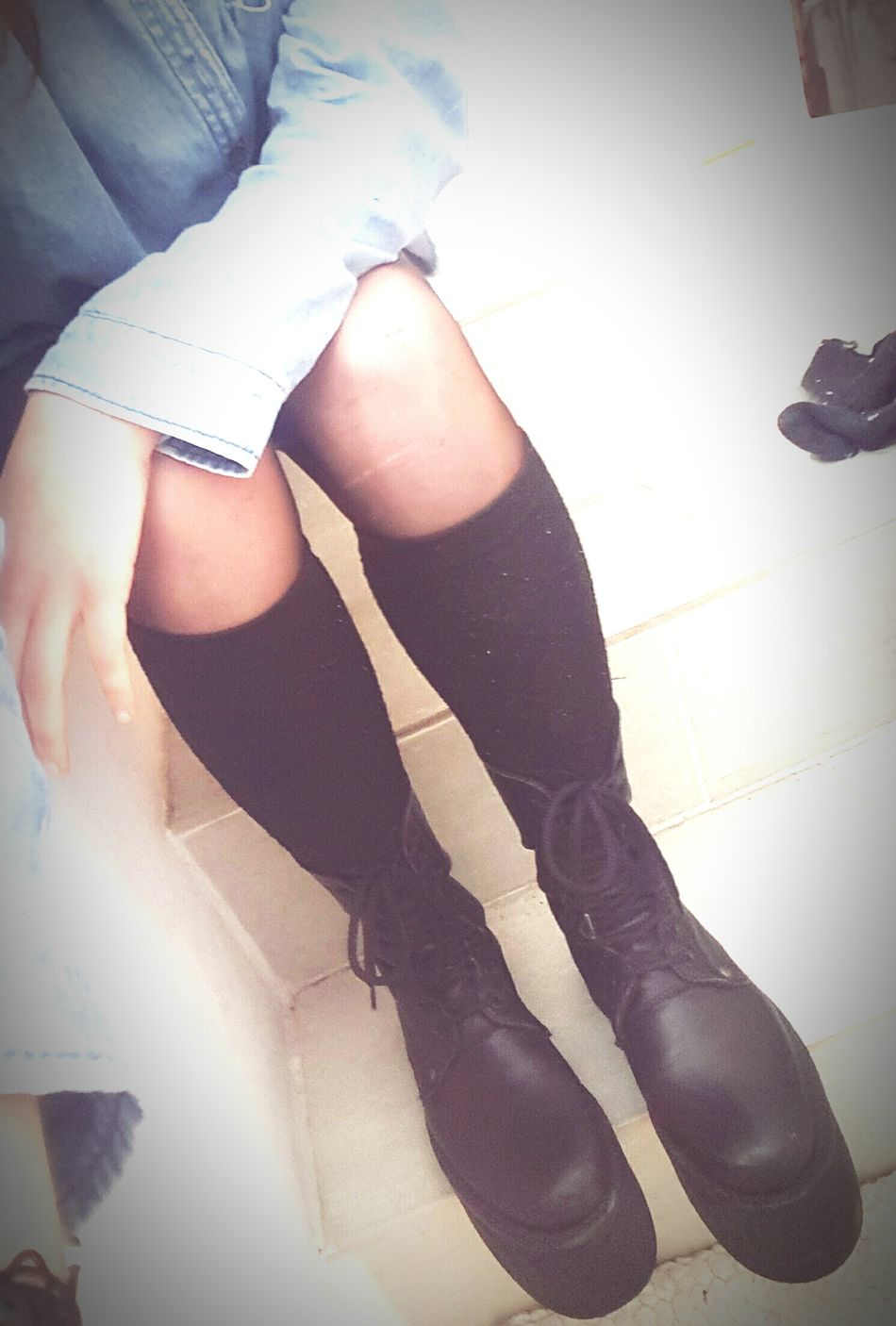 Legs Black Boots Ganga Fashion Loveit Styling Girl Me Alternative Alternativemood Alternativegirl Metalhead Metalheadgirl