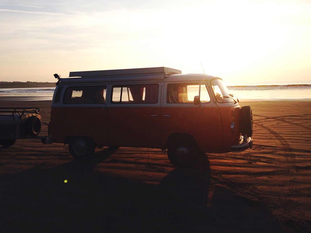 Sunshine VW Bus Traveling Beach Eased By The Sea Life Is A Beach Surf's Up