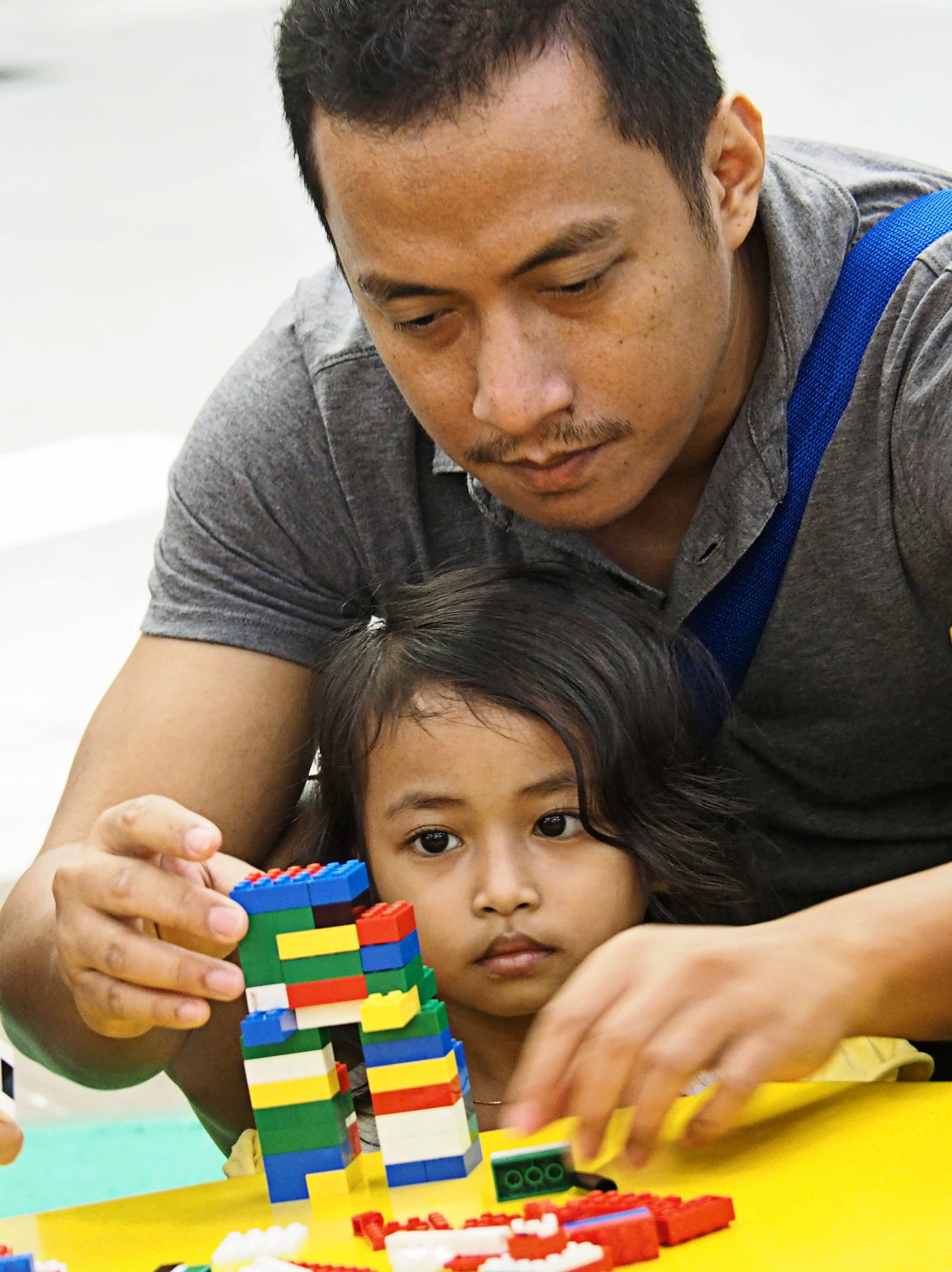 Just for the Little Girl... Kid Father And Daughter Interaction LEGO Playing Time Photo Of A Friend Fatherhood Moments