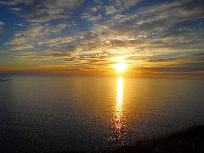 Sunset Water Scenics Tranquil Scene Sun Beauty In Nature Tranquility Sea Reflection Ocean Nature Sky Cloud - Sky Orange Color Seascape