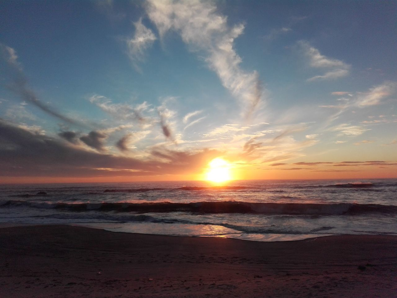 No Filter, No Edit, Just Photography Sunset Beach Sea Horizon Over Water Nature Sky Cloud - Sky Tranquility Sunset_captures Sunset Collection Fire On Water