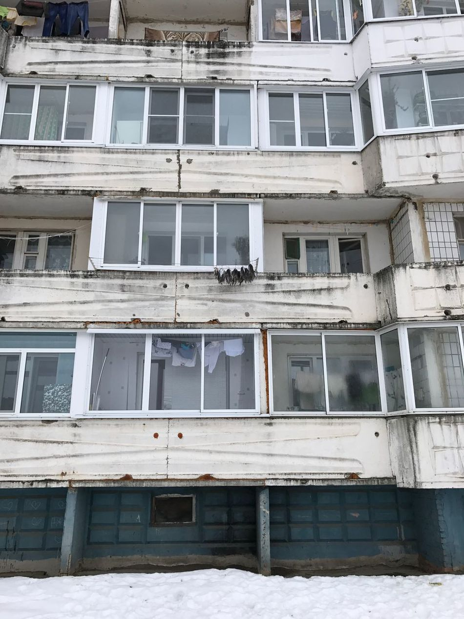 Building Exterior Window Architecture Built Structure Outdoors Full Frame No People Low Angle View Day Balcony Architectural Style Air Conditioner Fish Lotoshino