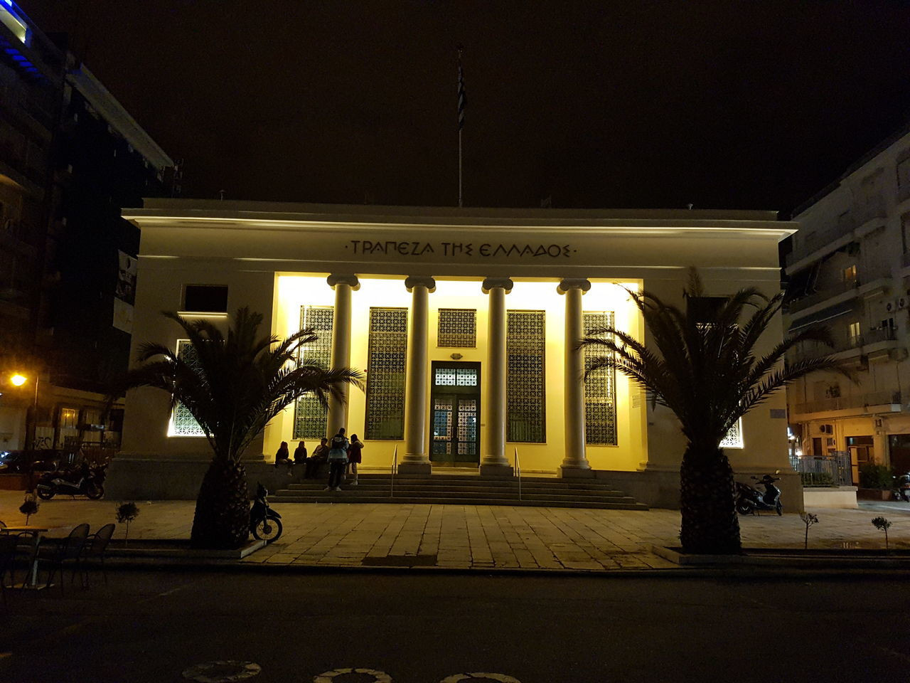 Greek Central Bank Greece Architecture Built Structure No People Outdoors Travel Destinations Bank Arts Culture And Entertainment World Holidays Aroundtheworld Travel Nightphotography Illuminated Traveling Photography Traditional Luxurylifestyle  The City Light Street Light City Night Lights Night Light Light Close-up History Architecture