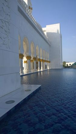 Abu Dhabi Architecture Grand Mosque Abu Dhabi Mosque No People Religion Shadow Travel Destinations Water