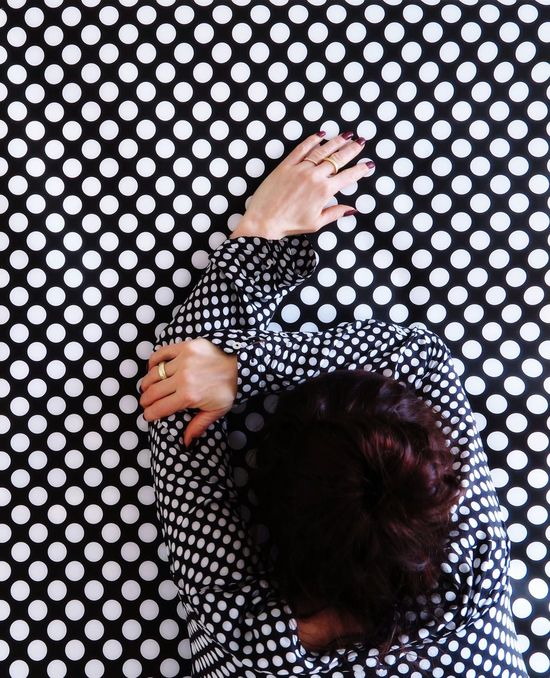 Equality One Woman Only Standing Especially Better Look Twice Hands Same  Same But Different Human Arm Portrait Of A Woman Real People Directly Above Lifestyles Women Indoors  Leisure Activity Childhood Pattern Pattern, Texture, Shape And Form Day Human Hand People Adult Dots Everywhere Dots The Portraitist - 2017 EyeEm Awards