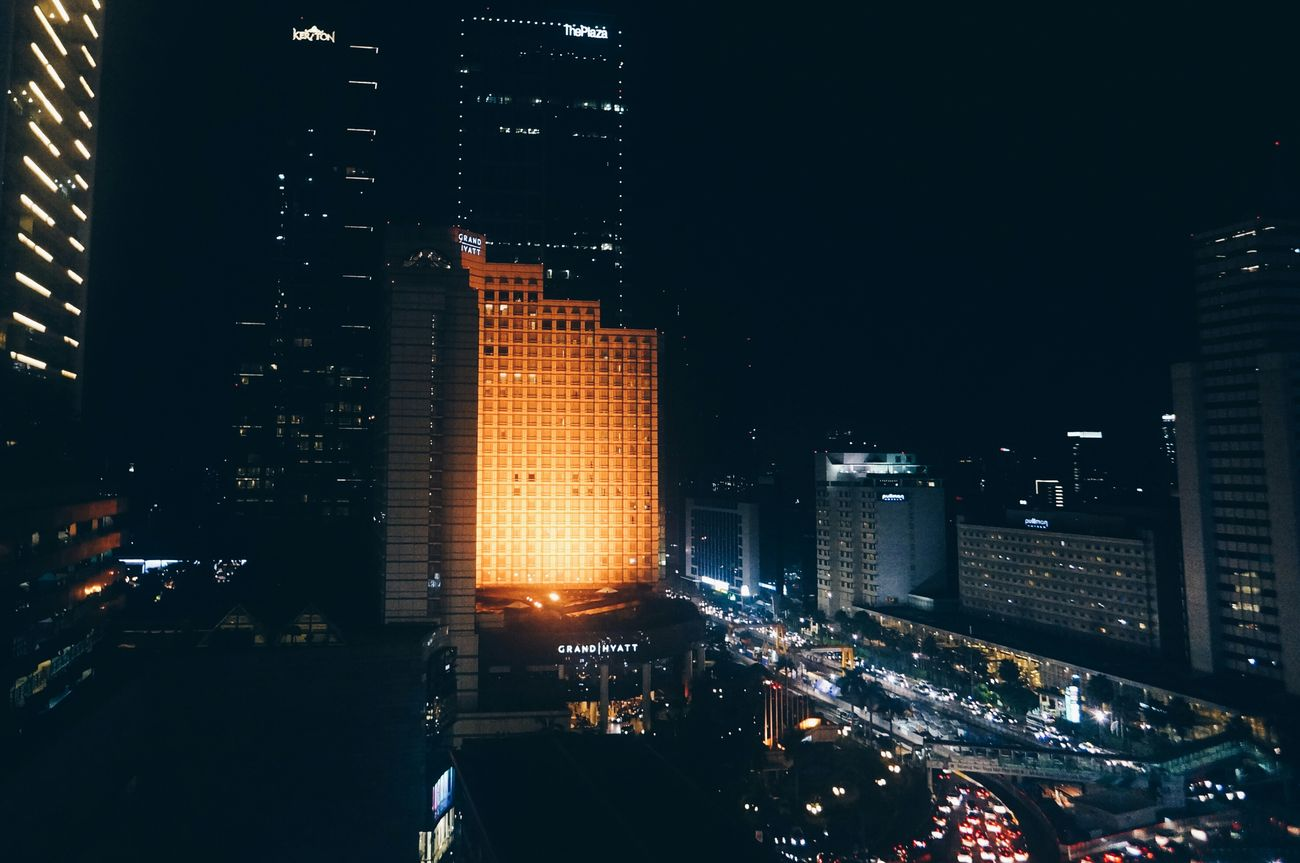 City Cityscape Skyscraper Night Building Exterior Architecture Travel Destinations Modern Urban Skyline No People Outdoors Futuristic Illuminated Sky Nature Visualsoflife Moodygrams TheCreatorClass Way2ill Createcommune CreateExplore VSCO Visualgang Jakarta Indonesia