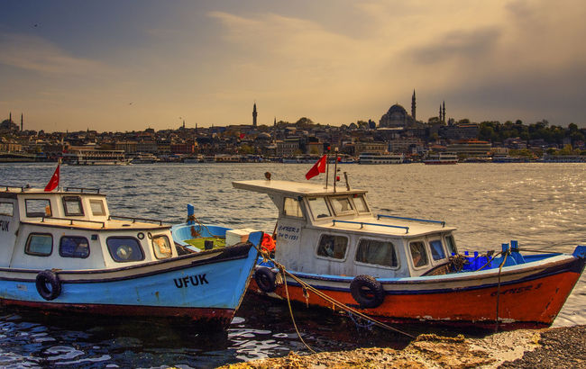 Fisher boat and The Blue Mosque Silhouette in Istanbul Architecture Blue Mosque Boat Building Exterior Built Structure Cloud - Sky Istanbul Mode Of Transport Nautical Vessel Outdoors River Riverbank Seascape Sky Tourism Transportation Turkey Water Waterfront Wide Shot