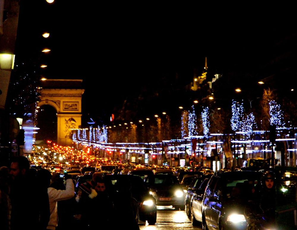 Traffic in Paris Night Lights Night Photography On The Road Collected Community The Road- Image Gallery Cars On The Road!!