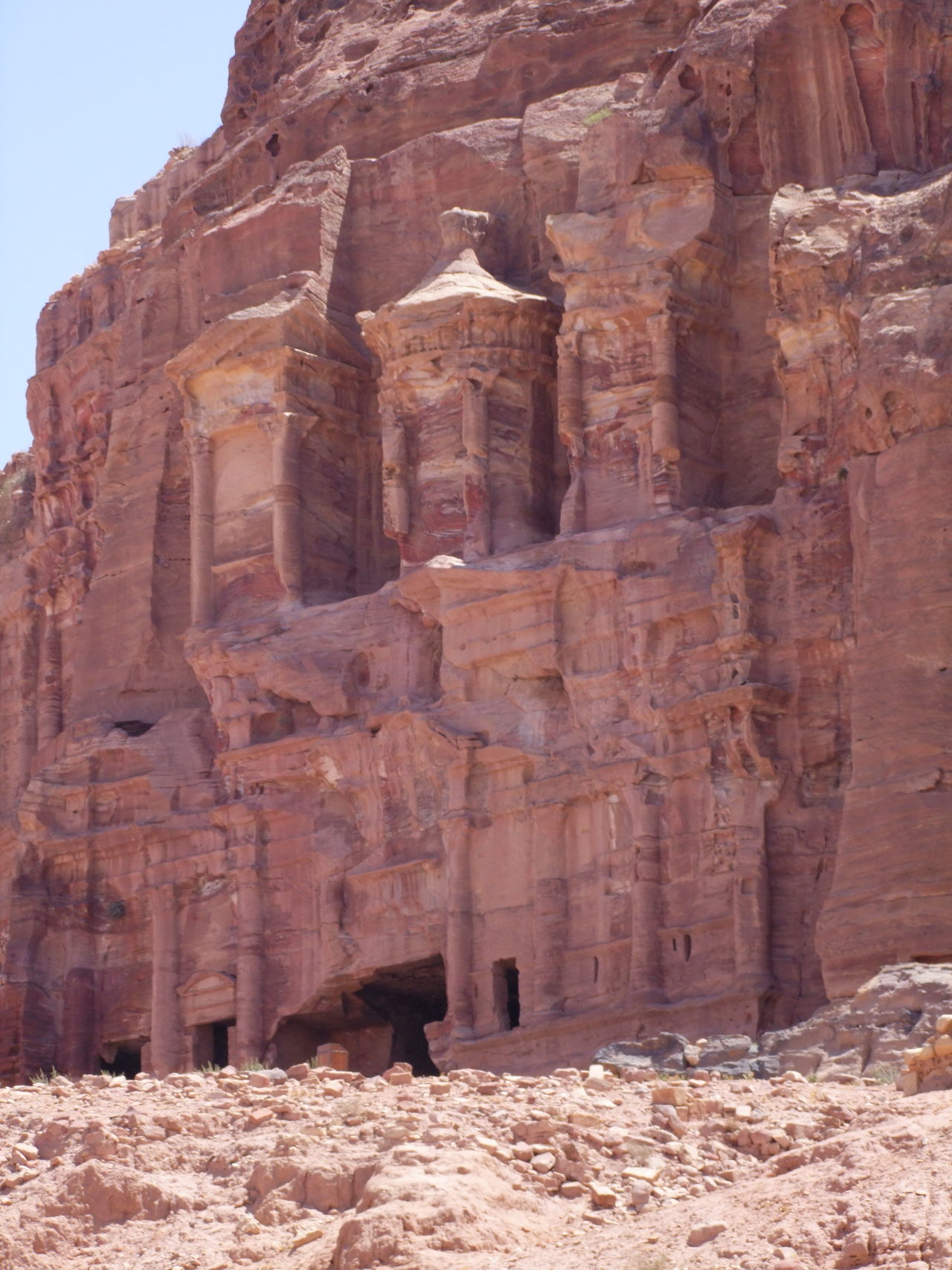 Silk Tomb Ancient Ancient Civilization Antiquity Archaeology Arid Climate Arid Landscape Blue Sky Composition Famous Place Full Frame Geology History Jordan Nabatean No People Old Ruin Outdoor Photography Photography Rose Red Sandstone Sandstone Cliffs Sunlight And Shade Tomb Tourist Attraction  Tourist Destination