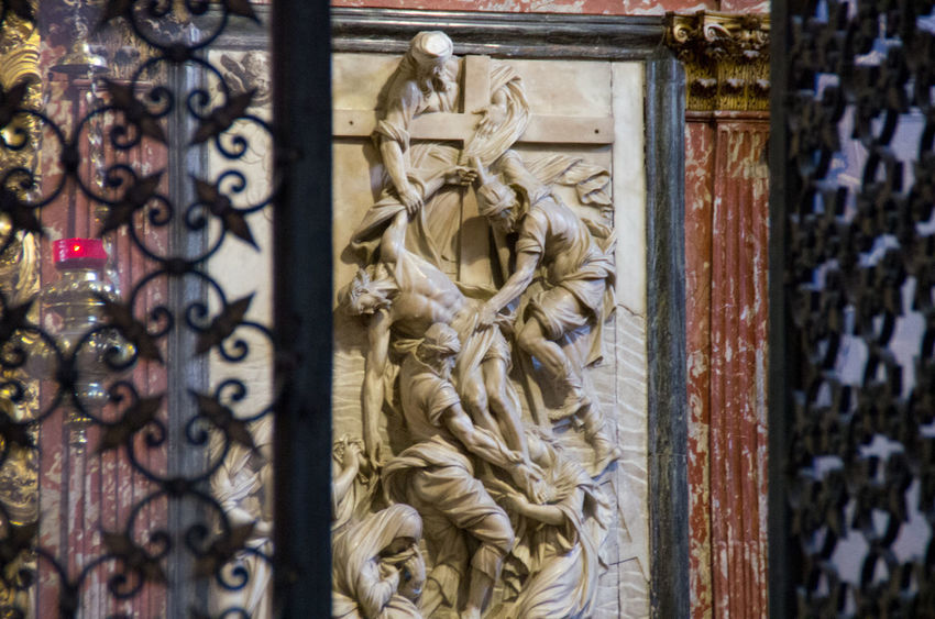 A Angel Architecture Church Church Of The Brothers Close-up Day Europe Iron Gate Italy No People Outdoors Renaisa Santa Maria Gloriosa Dei Frari Sculpture Statue Venice Venice, Italy