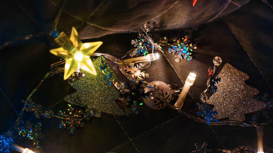 Christmas Christmas Lights!  Holidays Lights New Year Celebration Christmas Christmas Decoration Christmas Lights Christmas Ornament Christmas Present Christmas Tree Close-up Day Decoration Gift Gold Colored High Angle View Illuminated Indoors  Multi Colored No People Shiny Tradition Tree Decoration