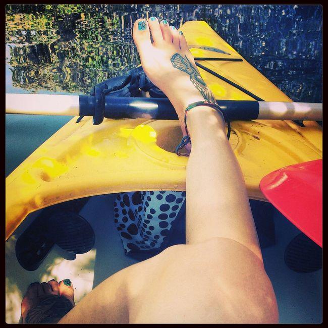 Kayaking at Robbinson Preserve Enjoying Nature