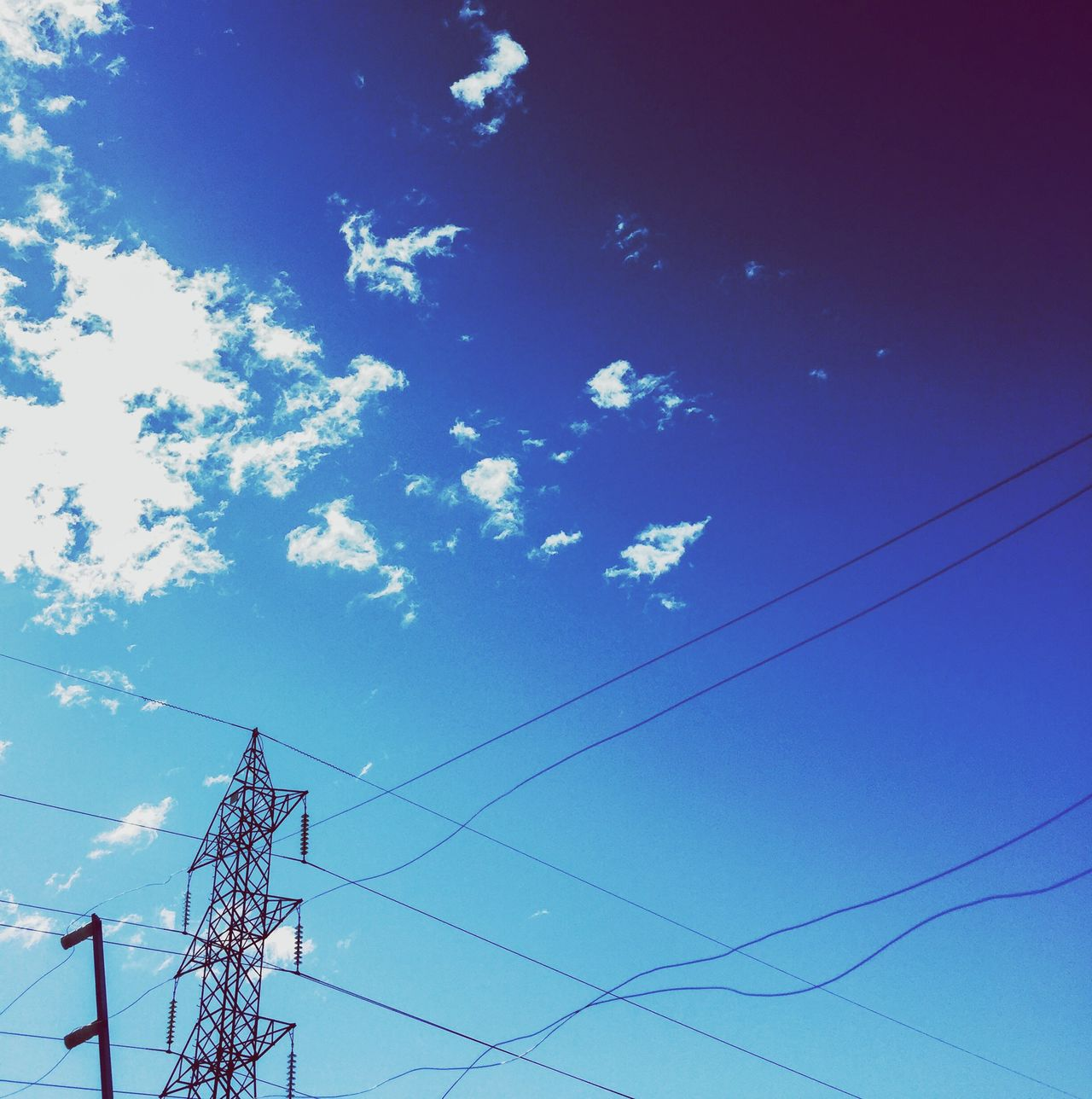 Cable Connection Low Angle View Electricity  Power Line  Power Supply Sky Blue Fuel And Power Generation Electricity Pylon No People Day Technology Outdoors Nature EyeEmNewHere
