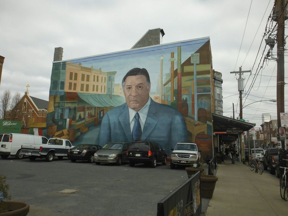 Mural Art Mural Frank Rizzo South Philadelphia Italian Market  9th Street
