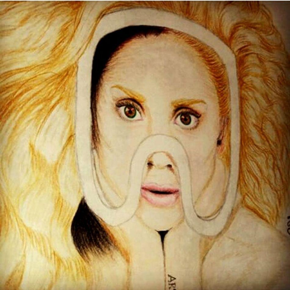 Ilovetodraw Myartwork Ladygaga ArtPop Artpopmask Followmeplease :3