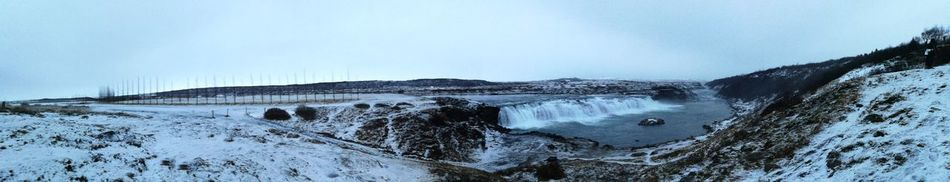 Beauty In Nature Day Nature No People Outdoors Panarama Panaramic Scenics Sky Snow ❄ Water Waterfalls