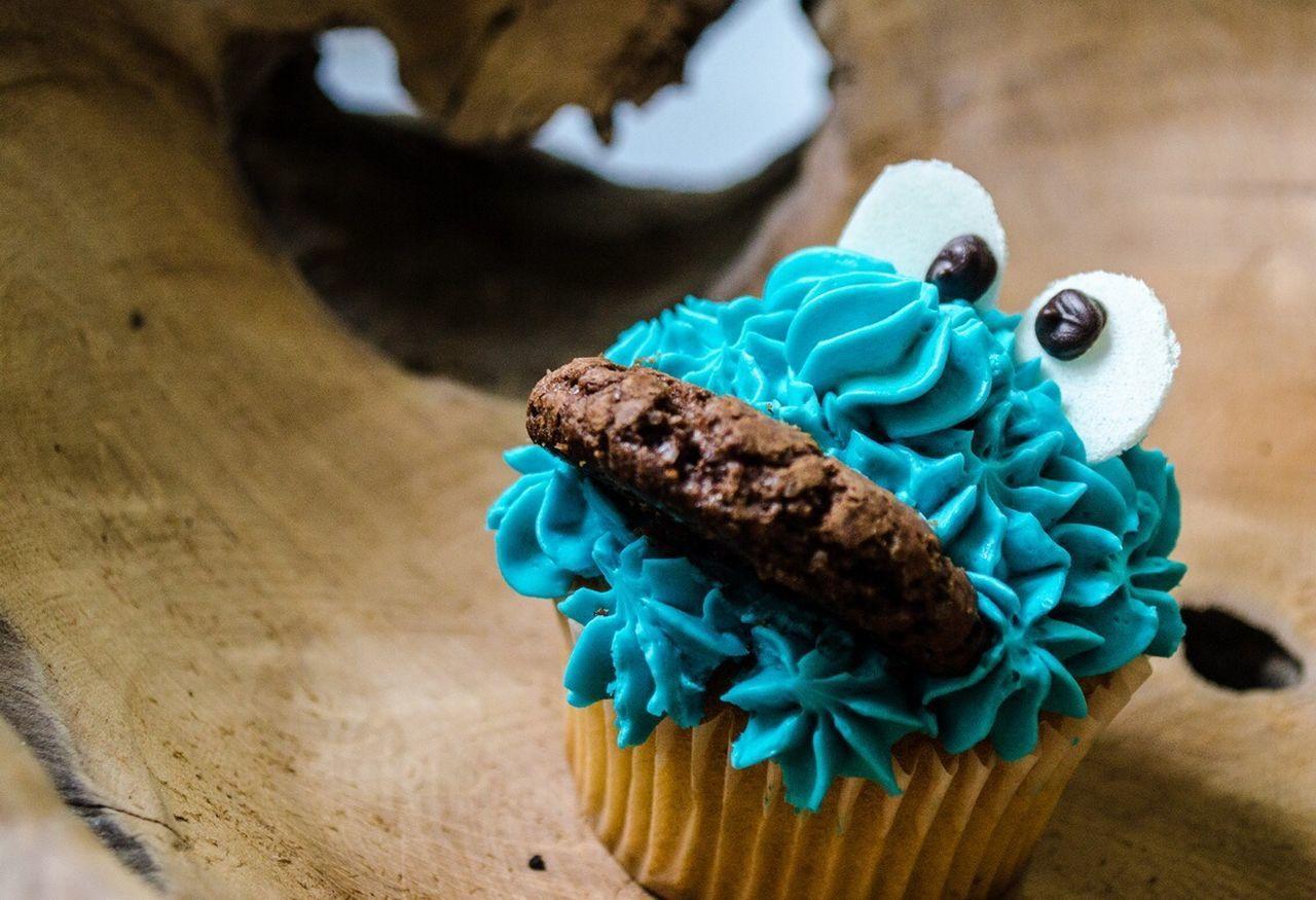 Beautiful stock photos of cupcake, Anthropomorphic Face, Blue, Cake, Cupcake