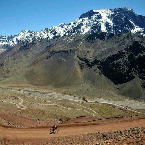Competición de ciclismo Mendoza Argentina Landscapes Mountains Bycicle