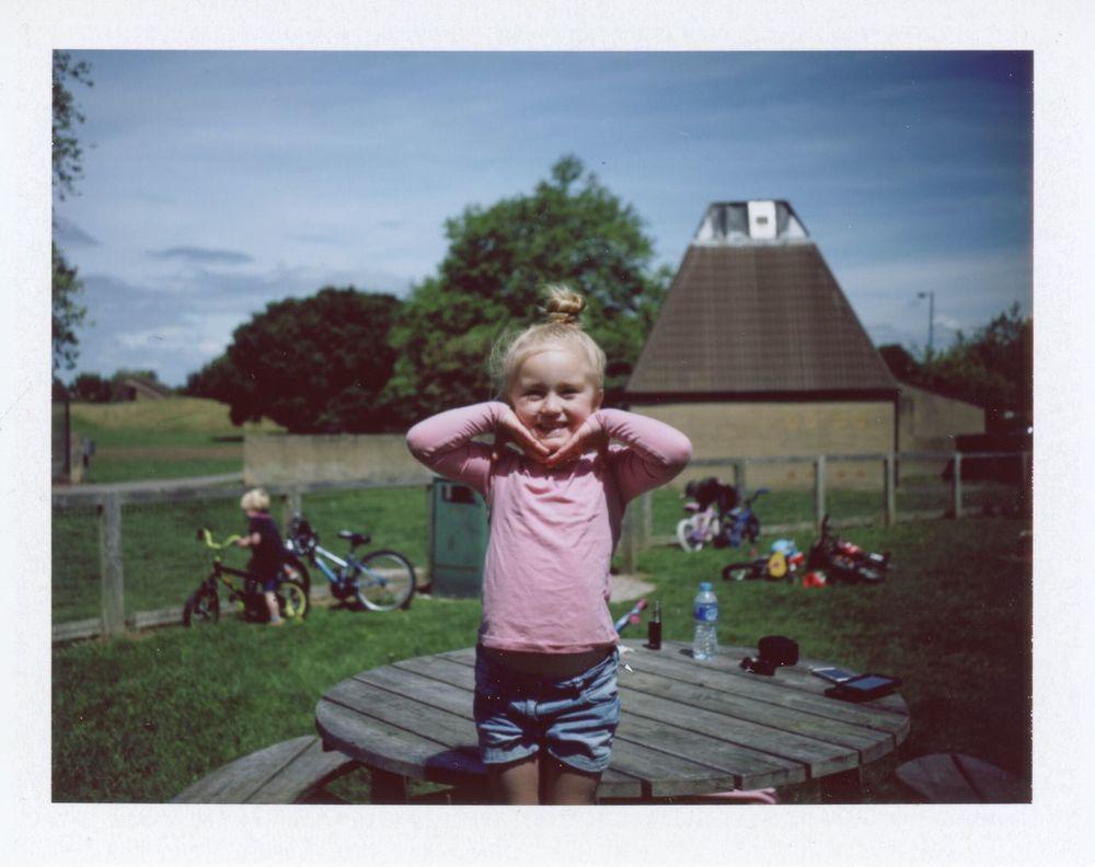 Childhood Smiling Polaroid Land Camera Automatic 350 Fujifilm Fp-100c Analogue Photography Portrait Polaroid