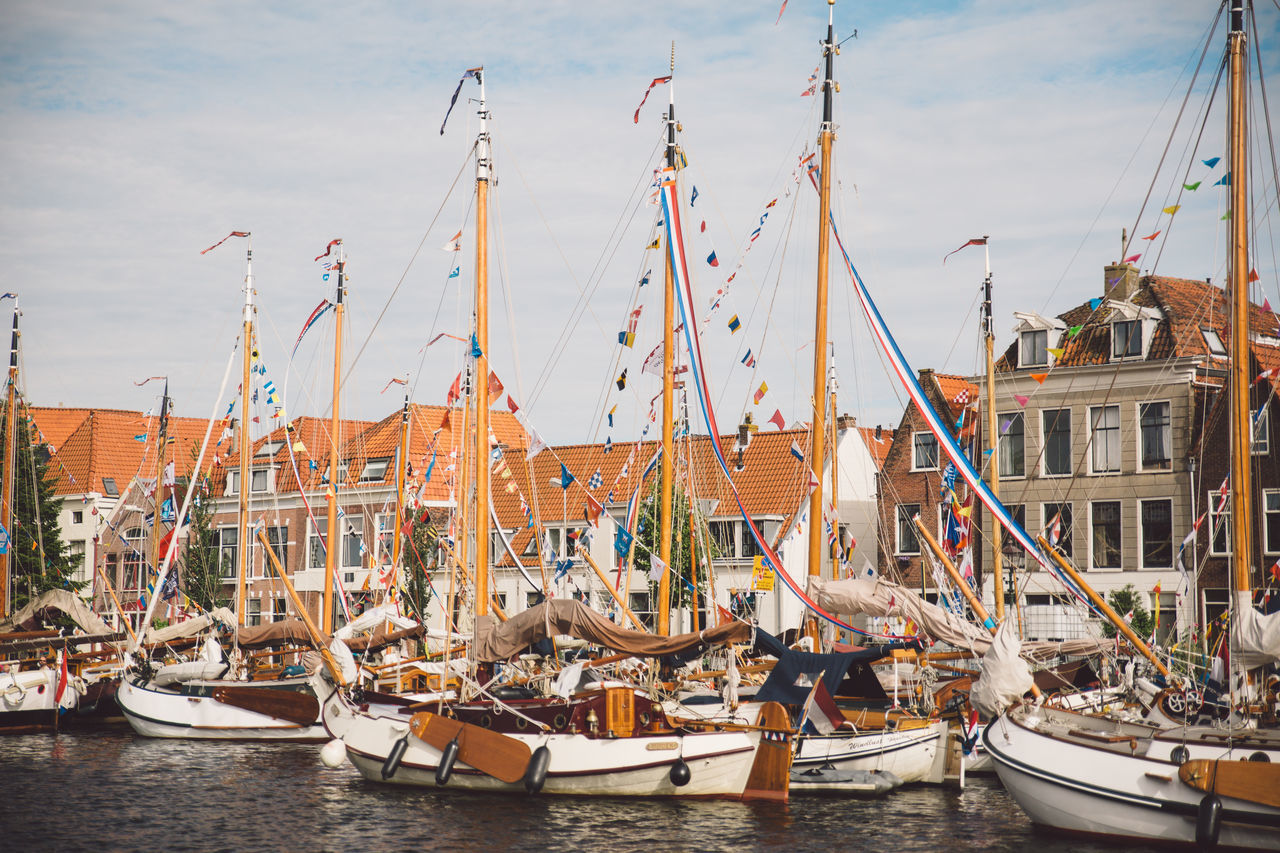 Architecture Haarlem Haarlemse Haarlemse Vaardagen 2017 Architecture Boats Building Exterior Built Structure Canal Cruise Day Dutch Harbor Mast Mode Of Transport Moored Nature Nautical Vessel No People Outdoors River Sailboat Ships Sky Spaarne Transportation Vaardagen Water Waterfront