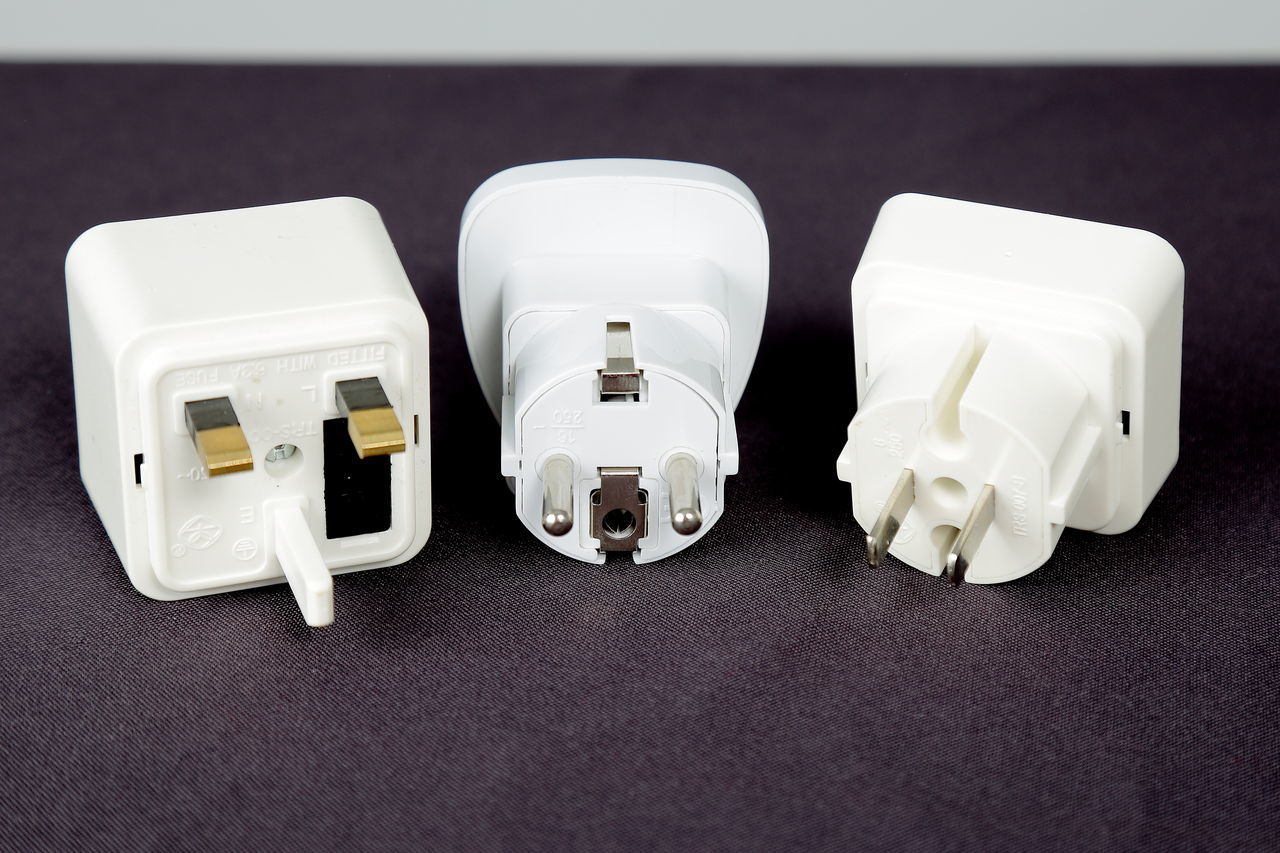 Close-up Connectors Difference  High Angle View Indoors  Plugs Technology White Color