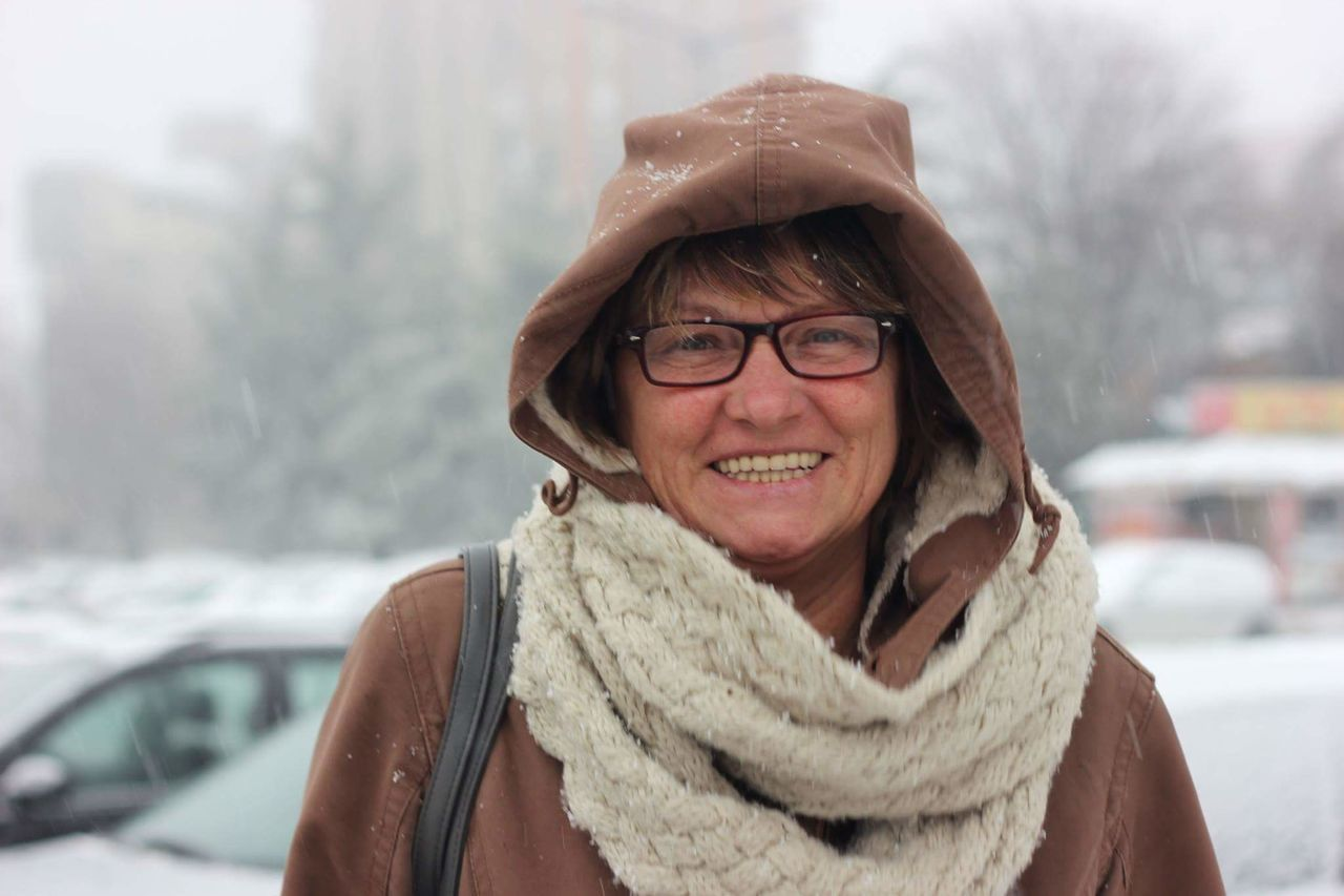 It's Cold Outside Madreee MyMOTHER♡ Snowing Smile :) LoveThisWoman