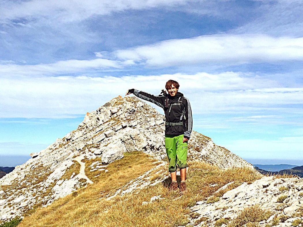 Arrived at the peak of the mountain @ Aachenkirch Hiking Alps Alpen Mountain Mountains Peak
