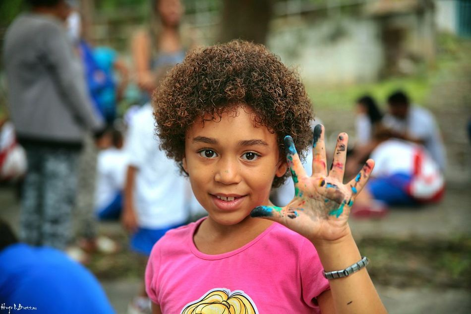 Child Facial Expression Happiness Childhood Looking At Camera Outdoors Portrait Children Only Fun Smiling One Girl Only Multi Colored Cheerful Close-up Human Hand Colors Colors Of Life Children Leisure Activity Children Photography Freshness Social Photography Social Documentary Happiness Togetherness