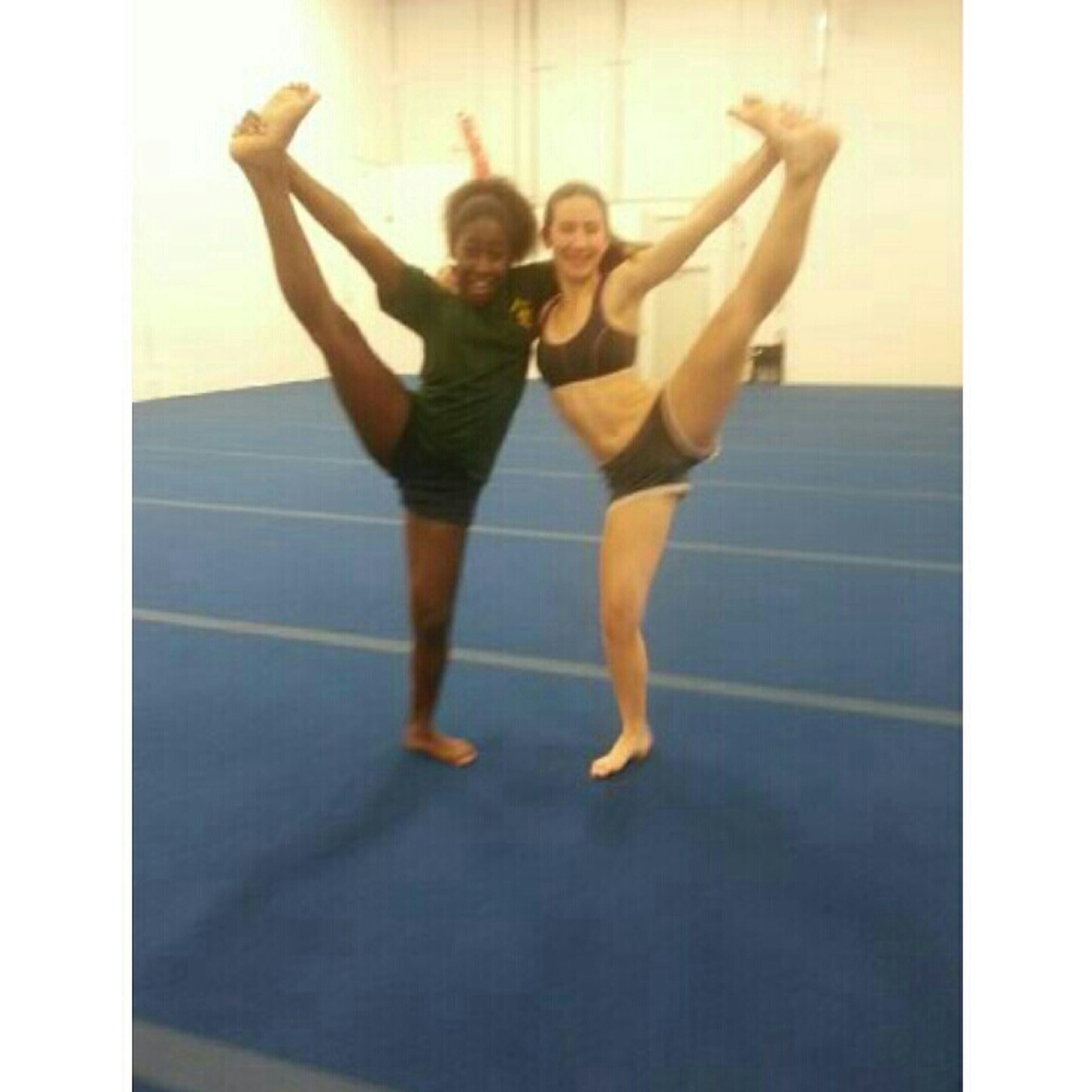 me and the bae heel stretch