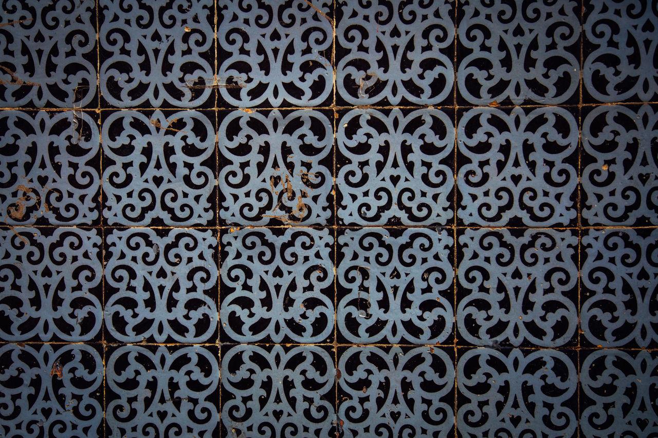 Tiles in Lisbon Backgrounds Close-up Day Full Frame Indoors  Lisbon No People Ornate Pattern Portugal Tile Tiles