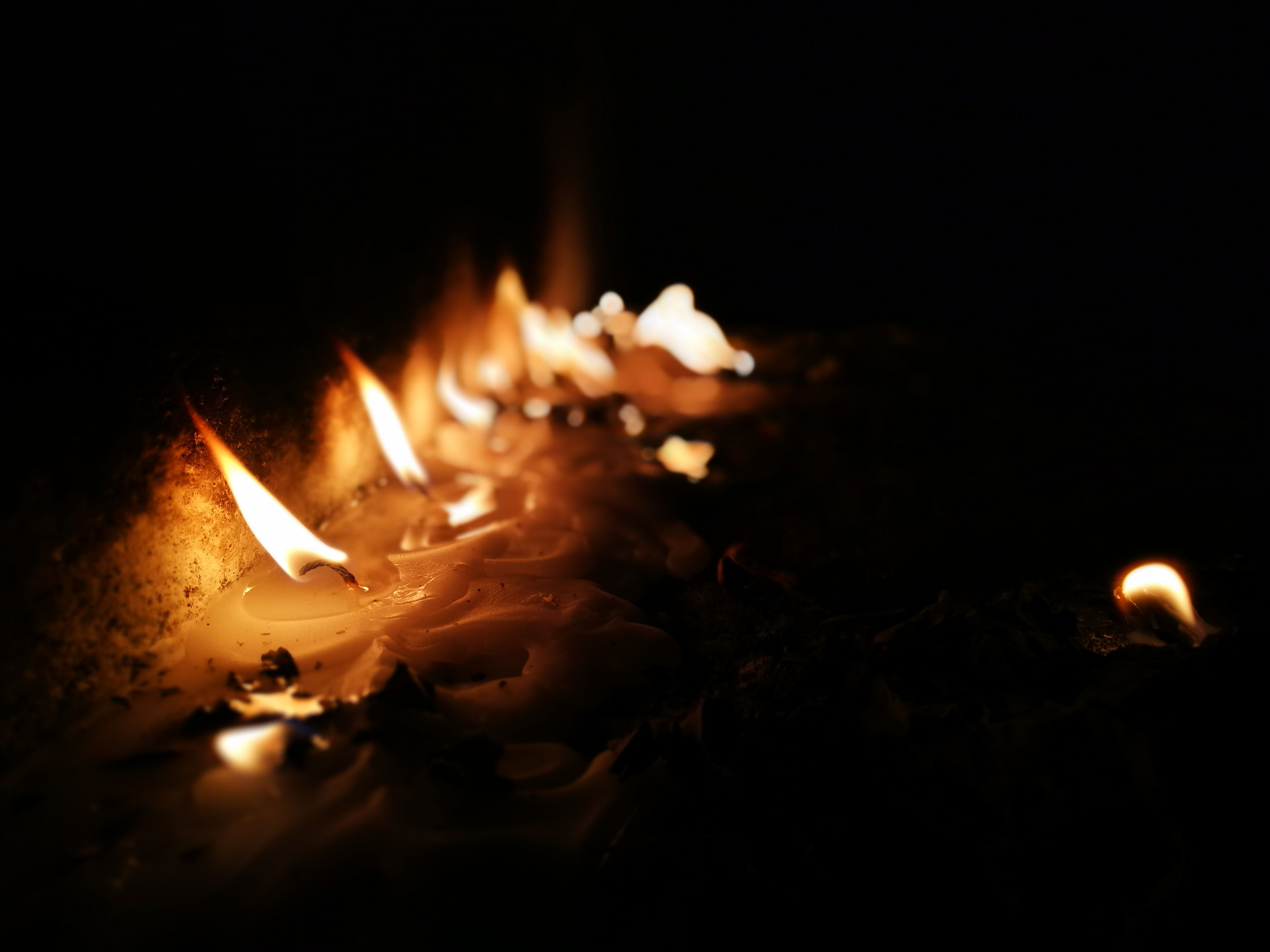 flame, burning, night, heat - temperature, no people, close-up, illuminated, outdoors