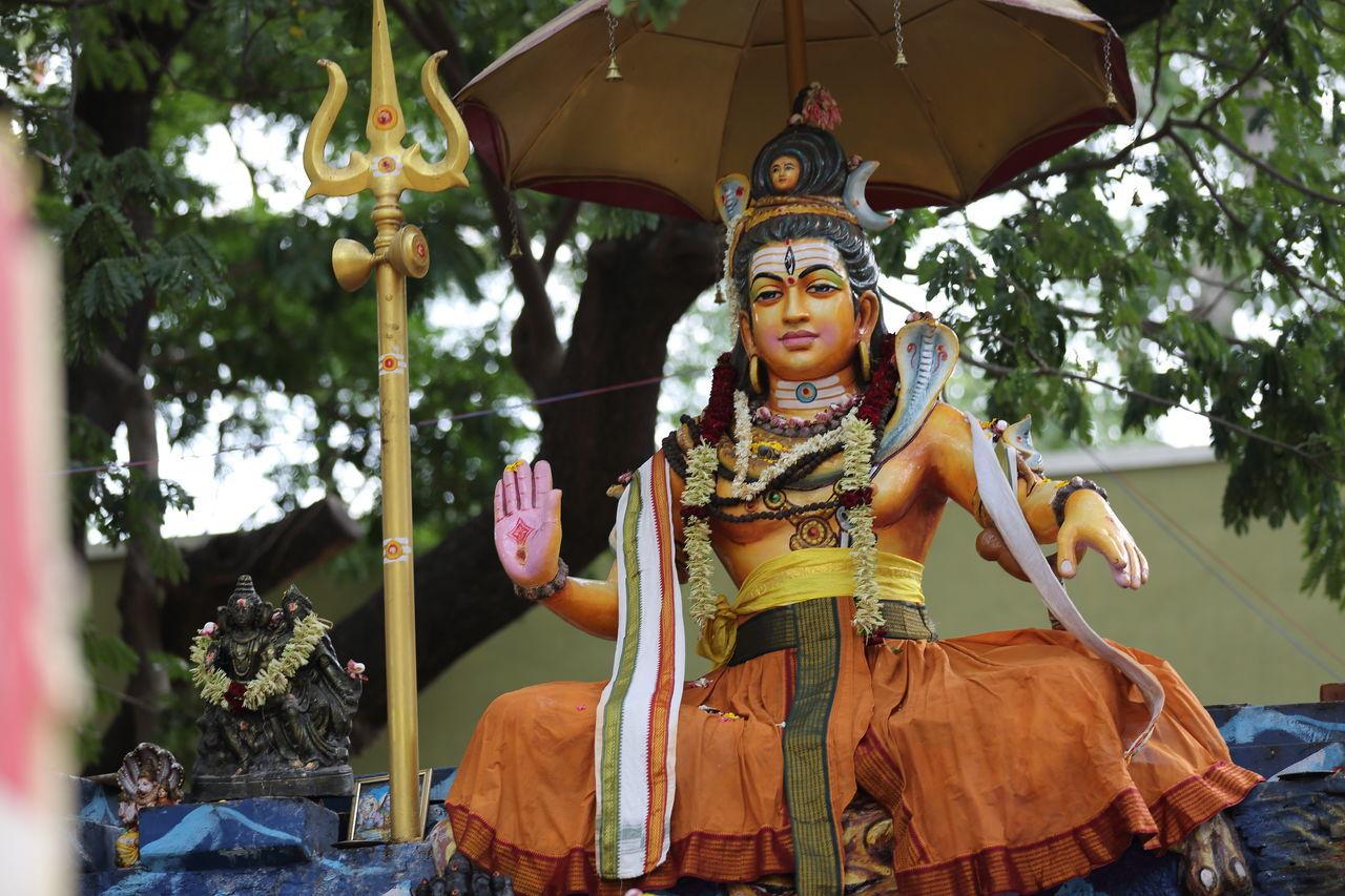 Lord Siva in Penance Chennai Hindu Gods India KKNagar Lord Siva Paulvadivu Portrait Sivan Park