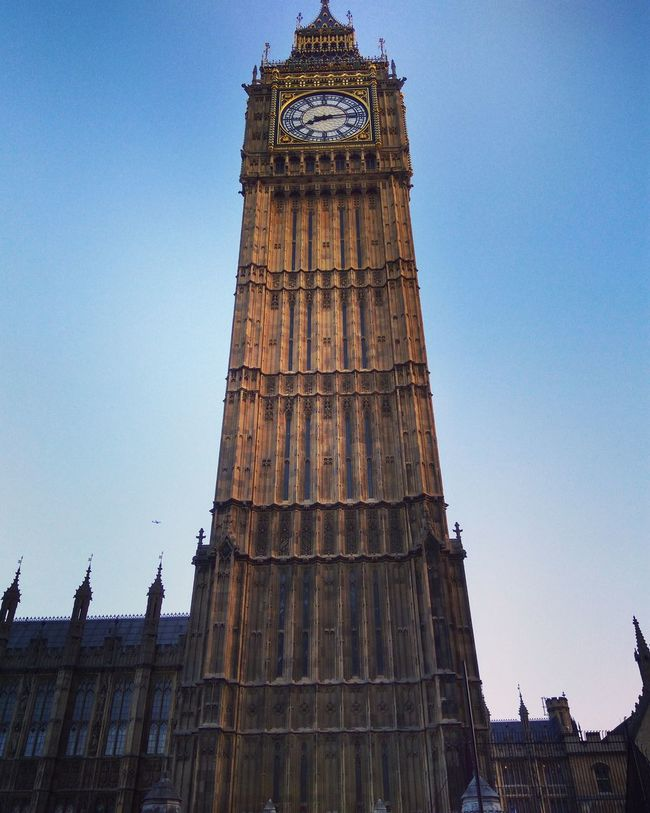 Architectural Feature Architecture Blue Building Exterior Built Structure Capital Cities  Clear Sky Clock Tower Day Development Famous Place Gothic Style High Section History International Landmark Low Angle View No People Outdoors Sky Tall Tall - High The Past Tourism Tower Travel Destinations