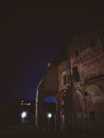 Castle in Melegano Night Architecture History Religion Built Structure Building Exterior Illuminated No People Travel Destinations Place Of Worship Spirituality Low Angle View Outdoors Sky City Ancient Civilization Melegnano EyEmNewHere EyeEmNewHere