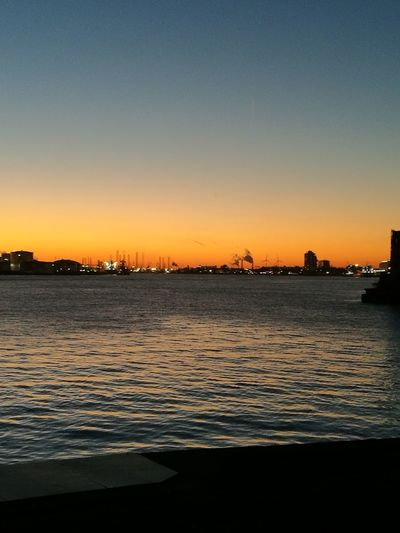 Sunset Sky No People Urban Skyline Rotterdam Harbor No Edits No Filters Holland❤ Netherlands Water Beauty In Nature