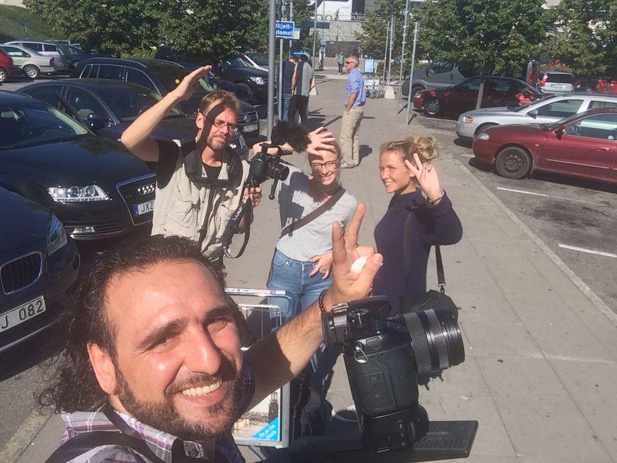 Film Filming Documentary Hej Sverige Stockholm Sweden Swedish Crew