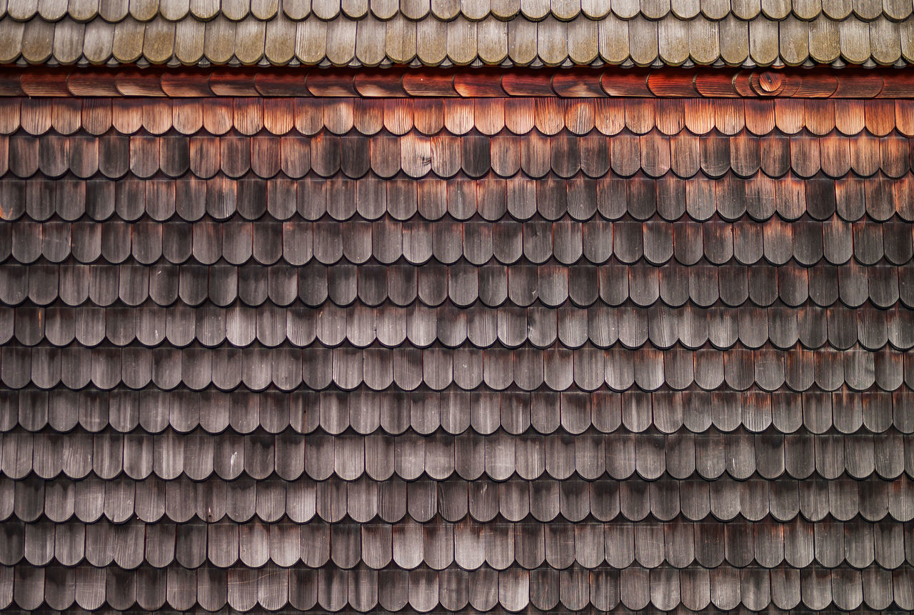 Wooden Shingles on a side of a house in Germany Architechtural Details Architectural Feature House Patern Shingles Traditional Wood Wooden