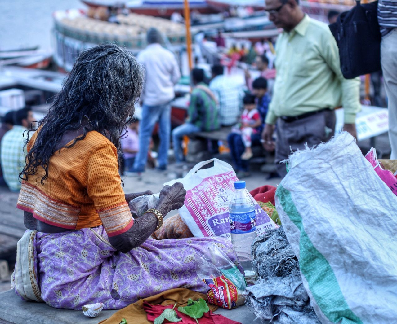 One Woman Only Adults Only Market Only Women Women One Person Adult People Outdoors Day Canon50D India Travel Baranasi Travel Photography Culture Life Varanasi, India Ganges, Indian Lifestyle And Culture, Bathing In The Ganges, Varanasidiaries