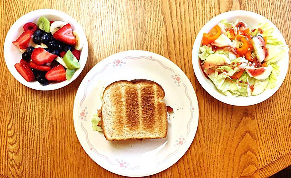 Lunch BLT Minus The T Fruit Salad Salad Raspberry Vinaigrette Foodporn Summer Food In My Mouf Yummy