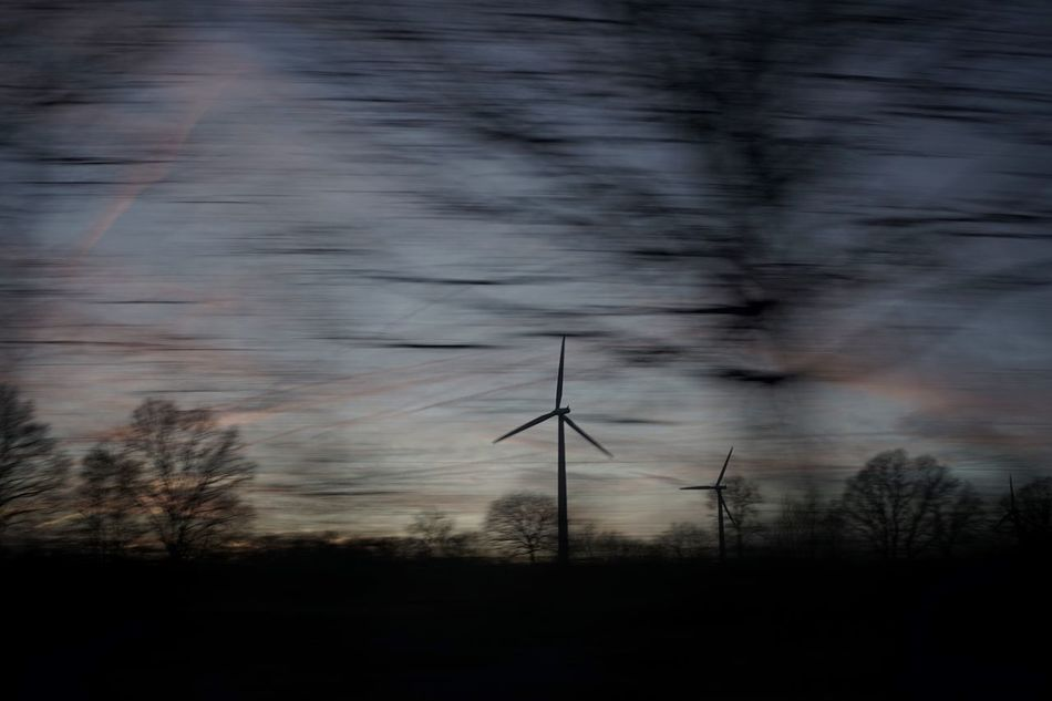 Blur Alternative Energy Fuel And Power Generation Environmental Conservation Renewable Energy Wind Power Sunset Nature Blurred Motion Tree Landscape Tranquility (null)Silhouette Scenics Light Windmill Streetphotography Leica Lens 35mm TheWeekOnEyeEM Traveling Travel