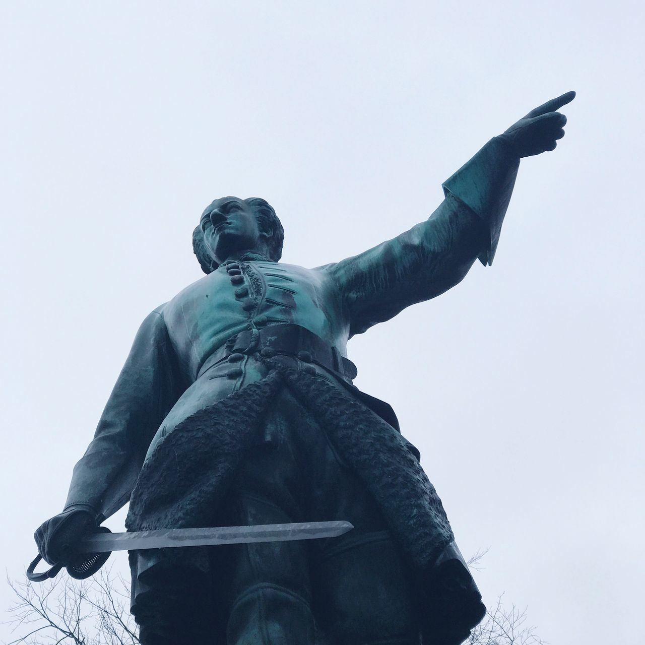 please that way! Statue Karl XII Low Angle View Human Representation Sculpture Art And Craft Clear Sky Creativity No People Sky Day Outdoors
