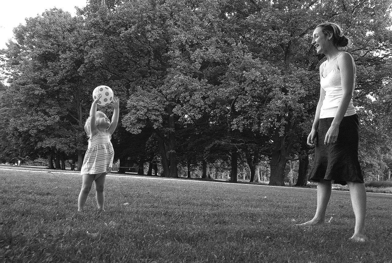 Black & White Kids Having Fun
