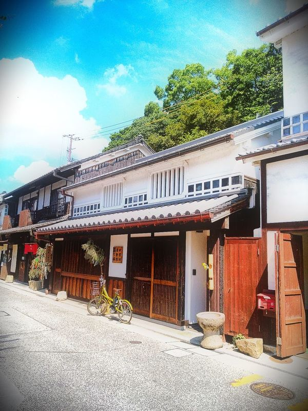 Hi! Hello World Taking Photos Outdoors Cityscape Town Street TOWNSCAPE Day Architecture House No People Street Walking Enjoying Life Check This Out Landscape Japanese Style House Battle Of The Cities Japan Photography Kurashiki Japan