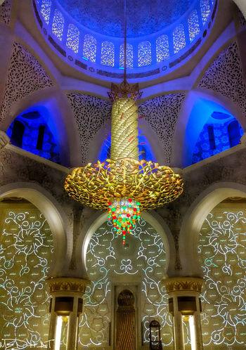 Architecture Indoors  Inside Sheik Zayed Mosqu No People Place Of Worship Religion Sheik Zayed Mosque Spirituality First Eyeem Photo