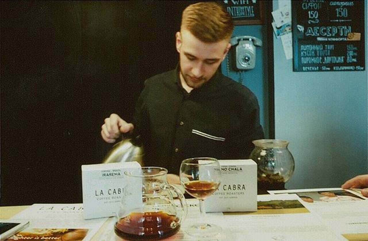 кофейня Чай бариста Olimpus 35mmfilmphotography 35mm