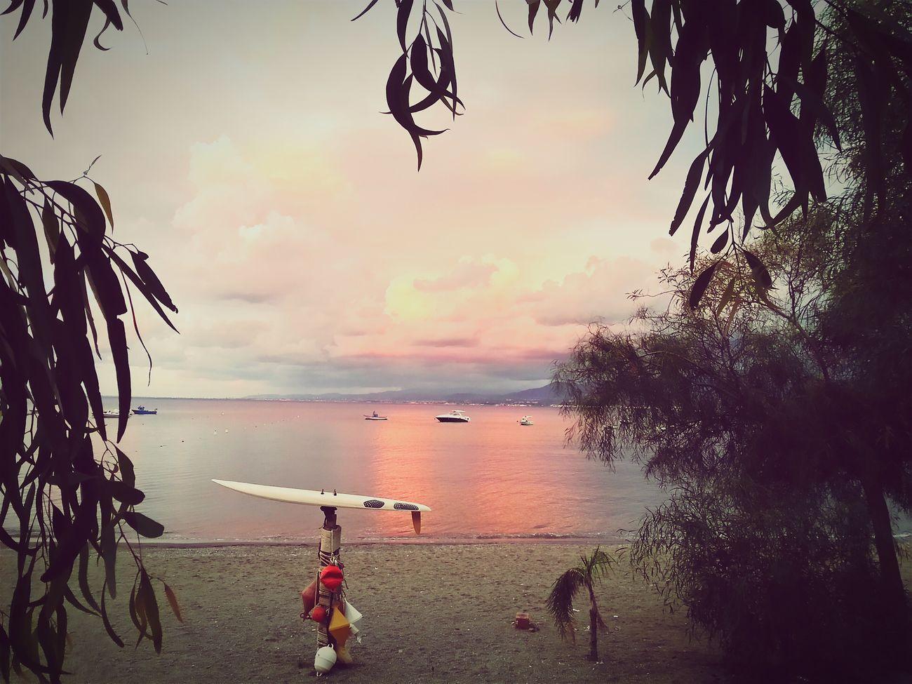 Sizilia Sea Sunset Travel Nature Vacations Beach