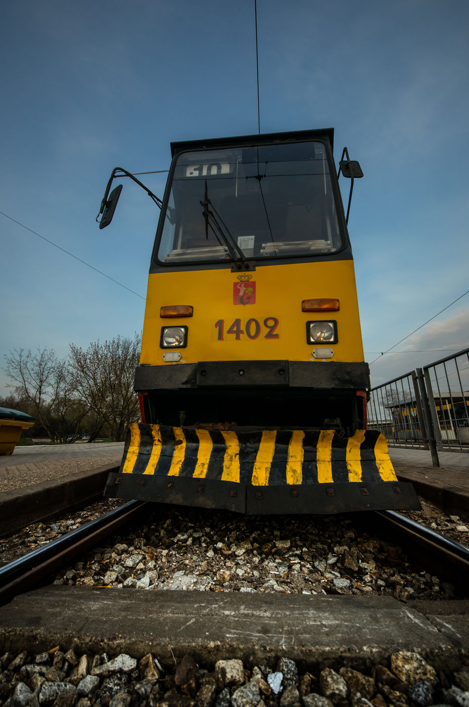 Day 41. This is how I roll... 365 365 Day Challenge 365project Day Industry No People Outdoors Poland Rail Transportation Railroad Track Rails Road Construction Sky Tram Transportation Warsaw Yellow