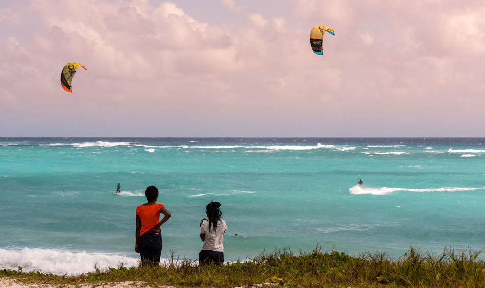 Action Adventure Barbados Beach Beauty In Nature Caribbean Caribbean Sea Kite Surfing Kiteboarding Leisure Activity Observers Ocean Sports Outdoors People Sand Scenics Sea Sky Spectators Vacations