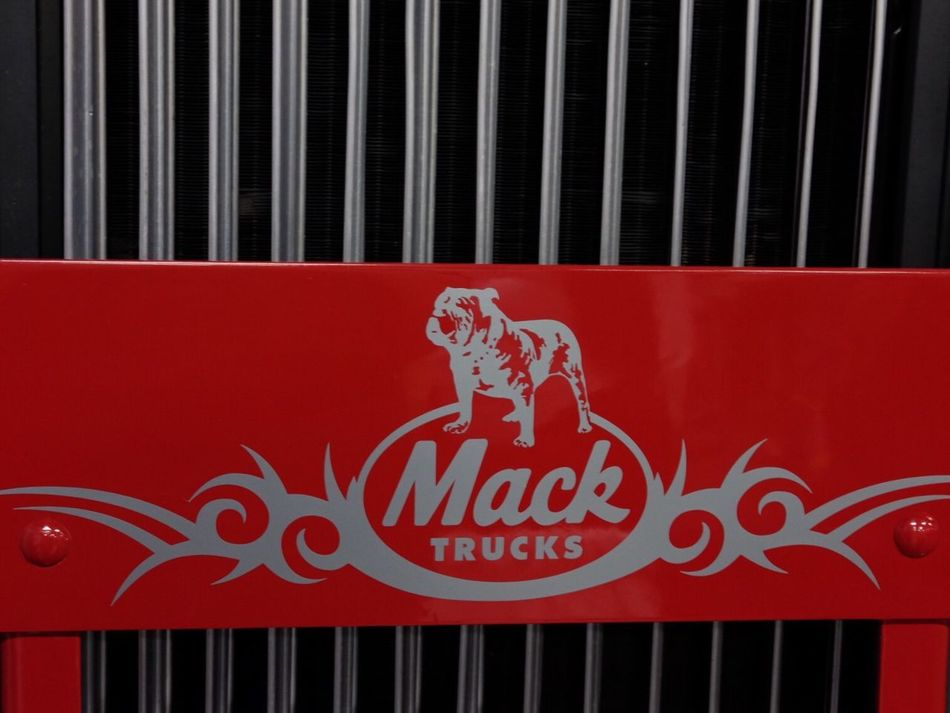 Text Red No People Close-up Day Outdoors Truck Grill Red Mack Truck