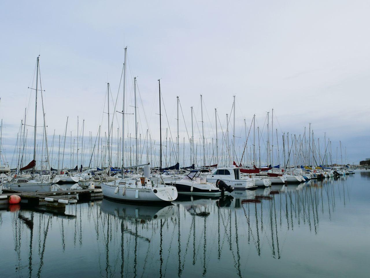 Reflection Nautical Vessel Mast Sky Water Outdoors Harbor Sea Sailboat Yacht⚓️ Yachting Marina Lorient